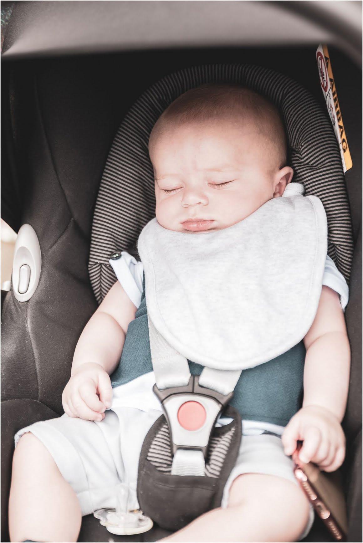 Harry's Christening at St Anne Wrenthorpe - sleeping baby harry
