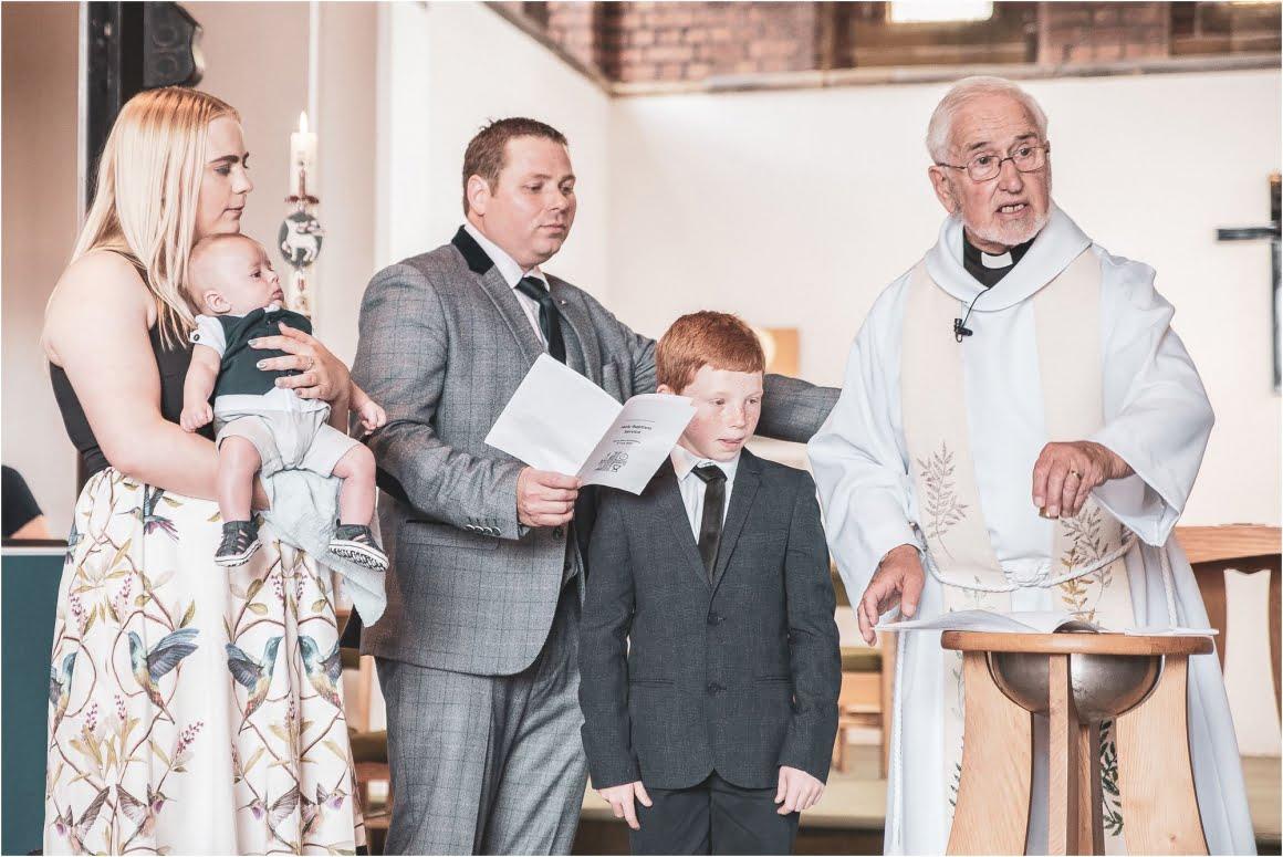 Harry's Christening at St Anne Wrenthorpe - family shot