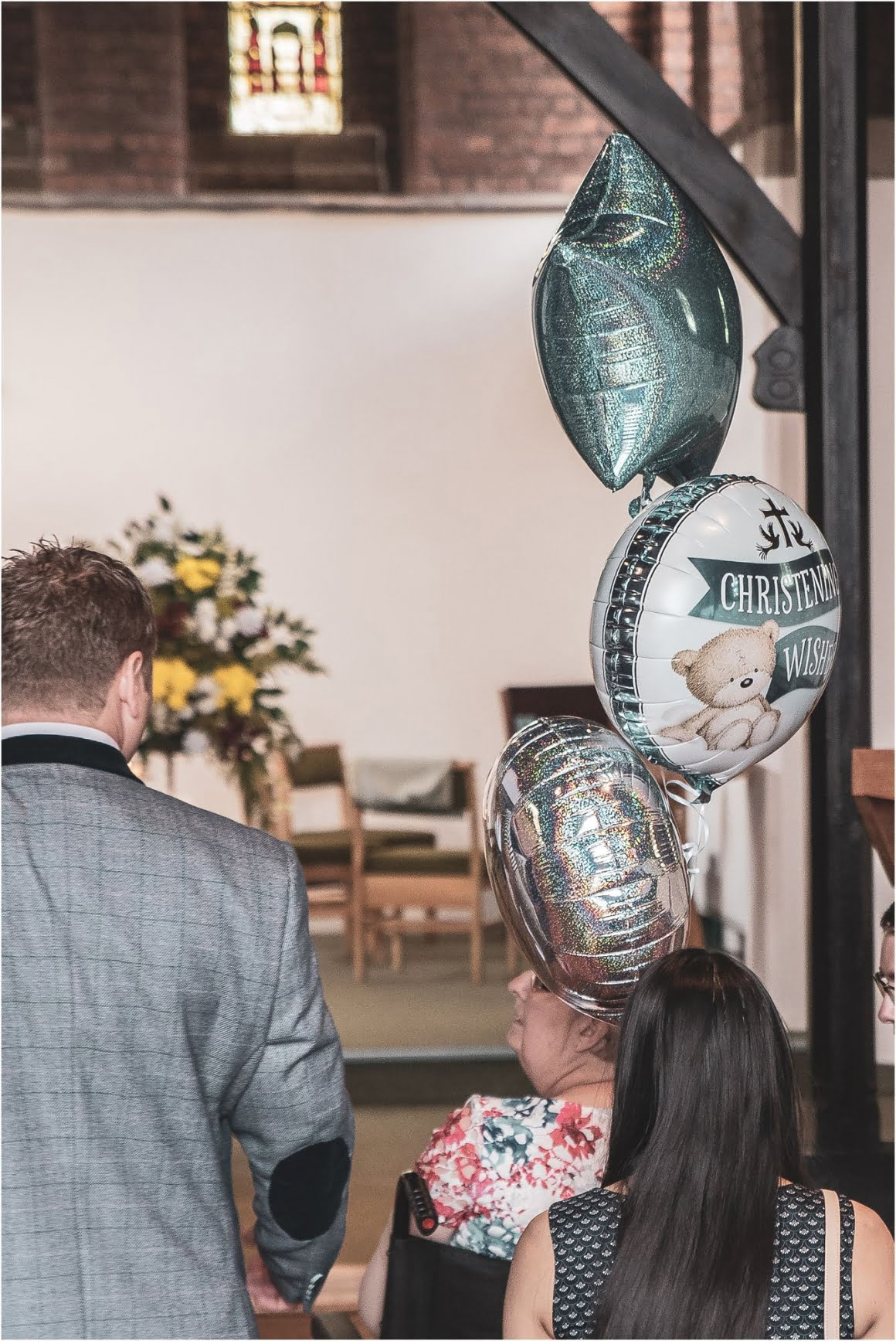 Harry's Christening at St Anne Wrenthorpe - bloons