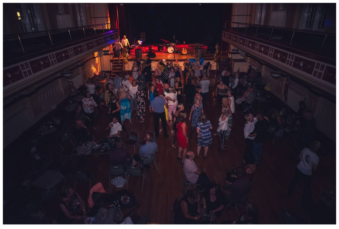 balcony shot of the dance hall - pontefract town hall
