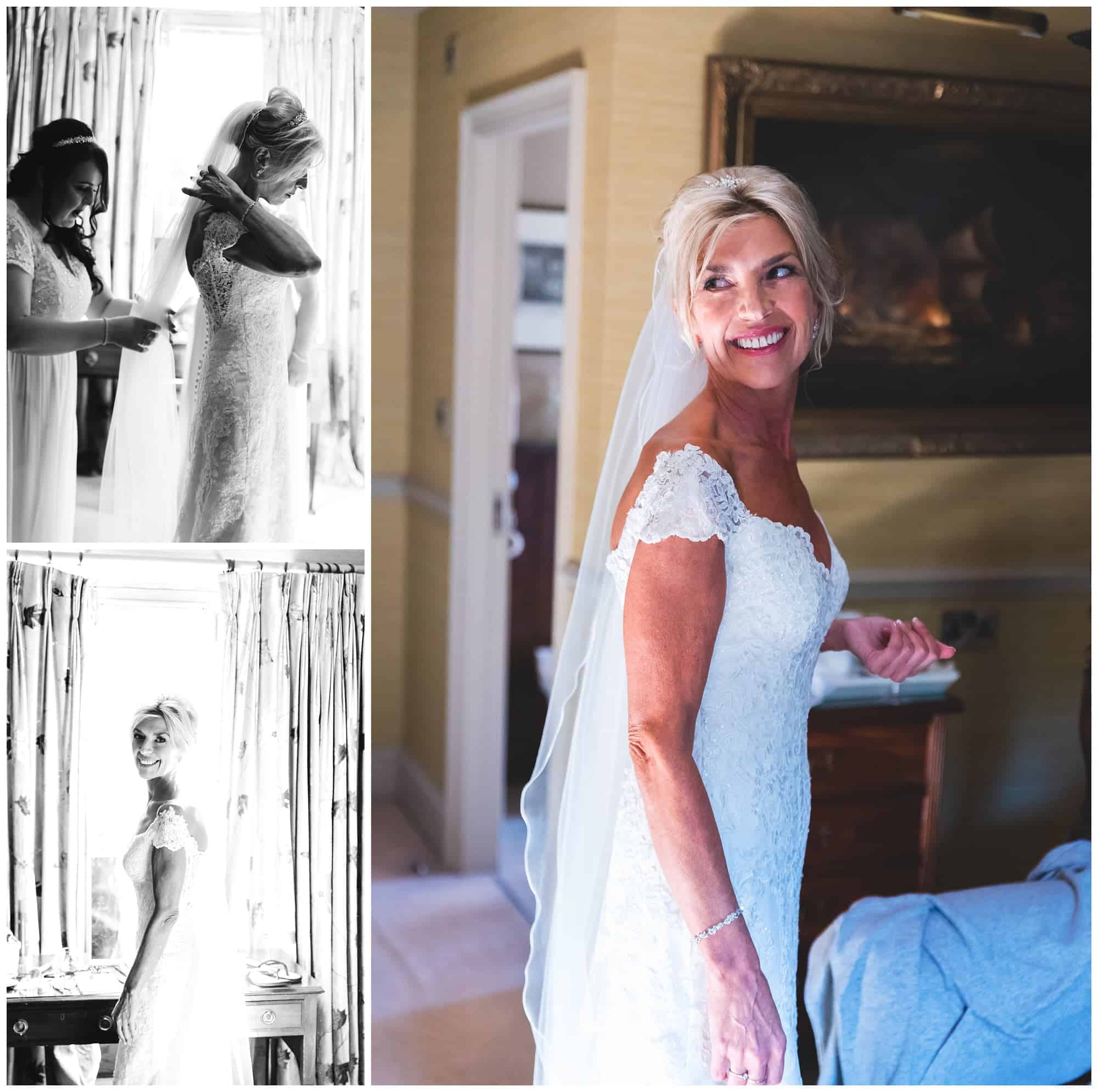 Whitley Hall Hotel Wedding - bride prep show in room