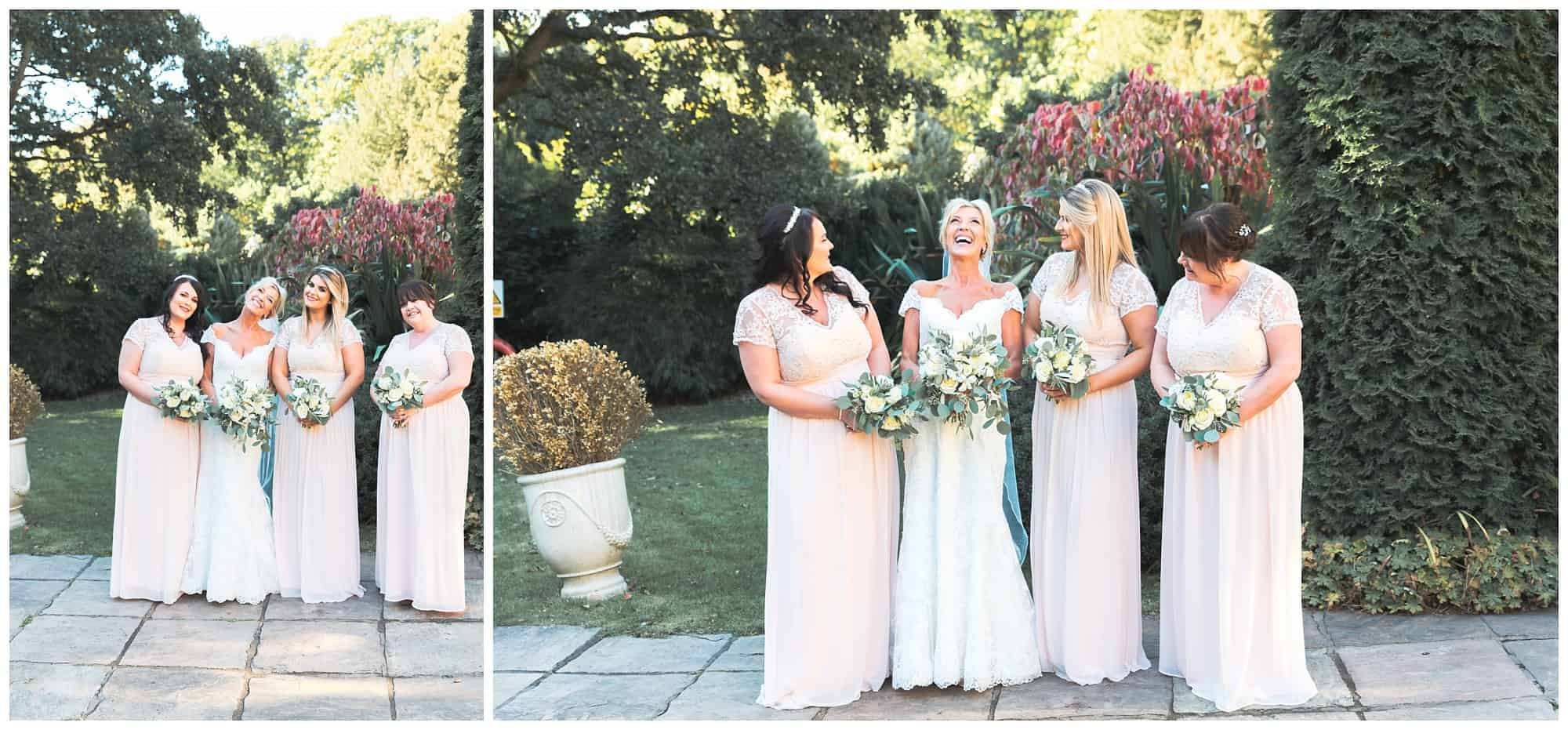 Whitley Hall Hotel Wedding -  bride with bridesmaids