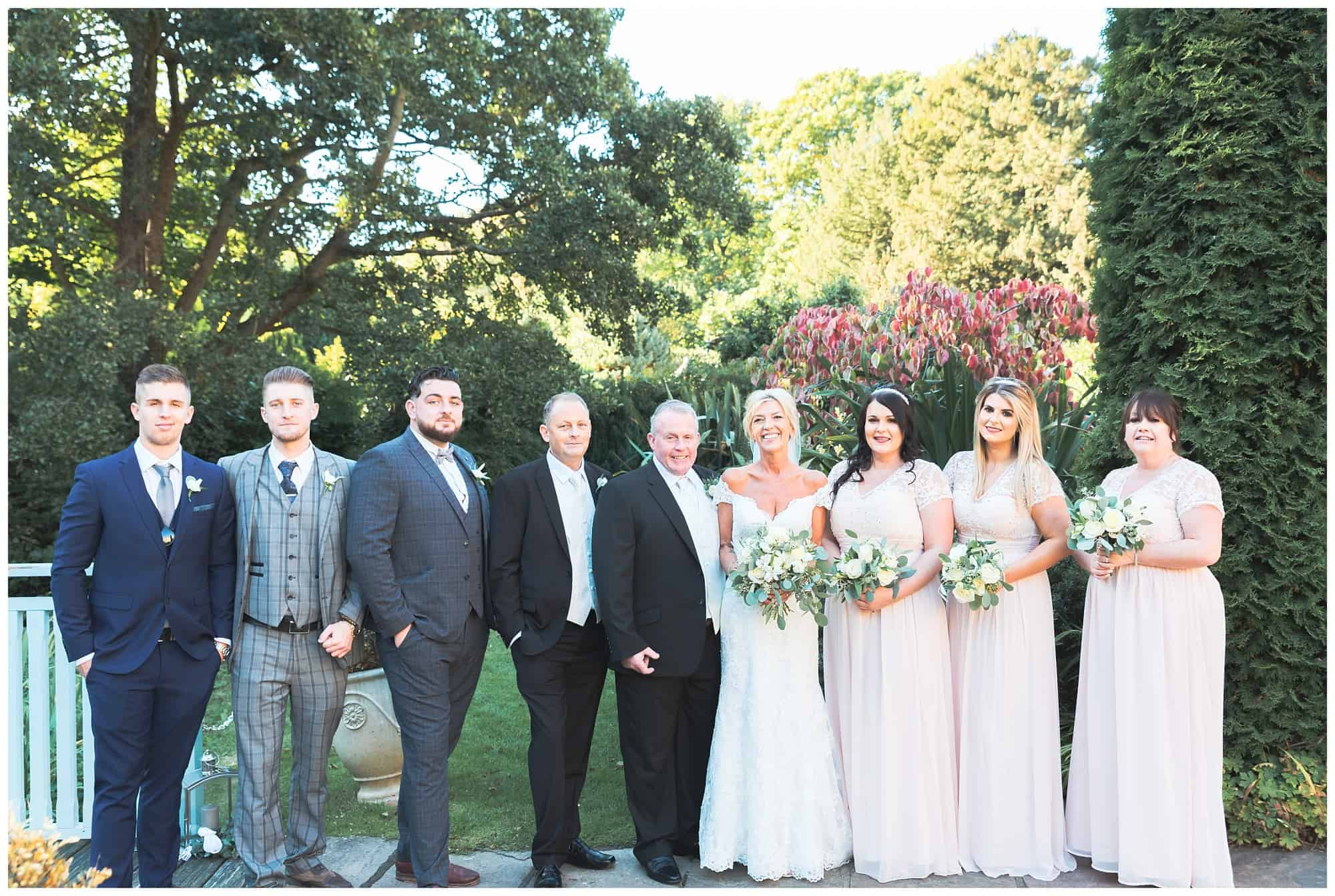Whitley Hall Hotel Wedding - grooms and bridesmaids