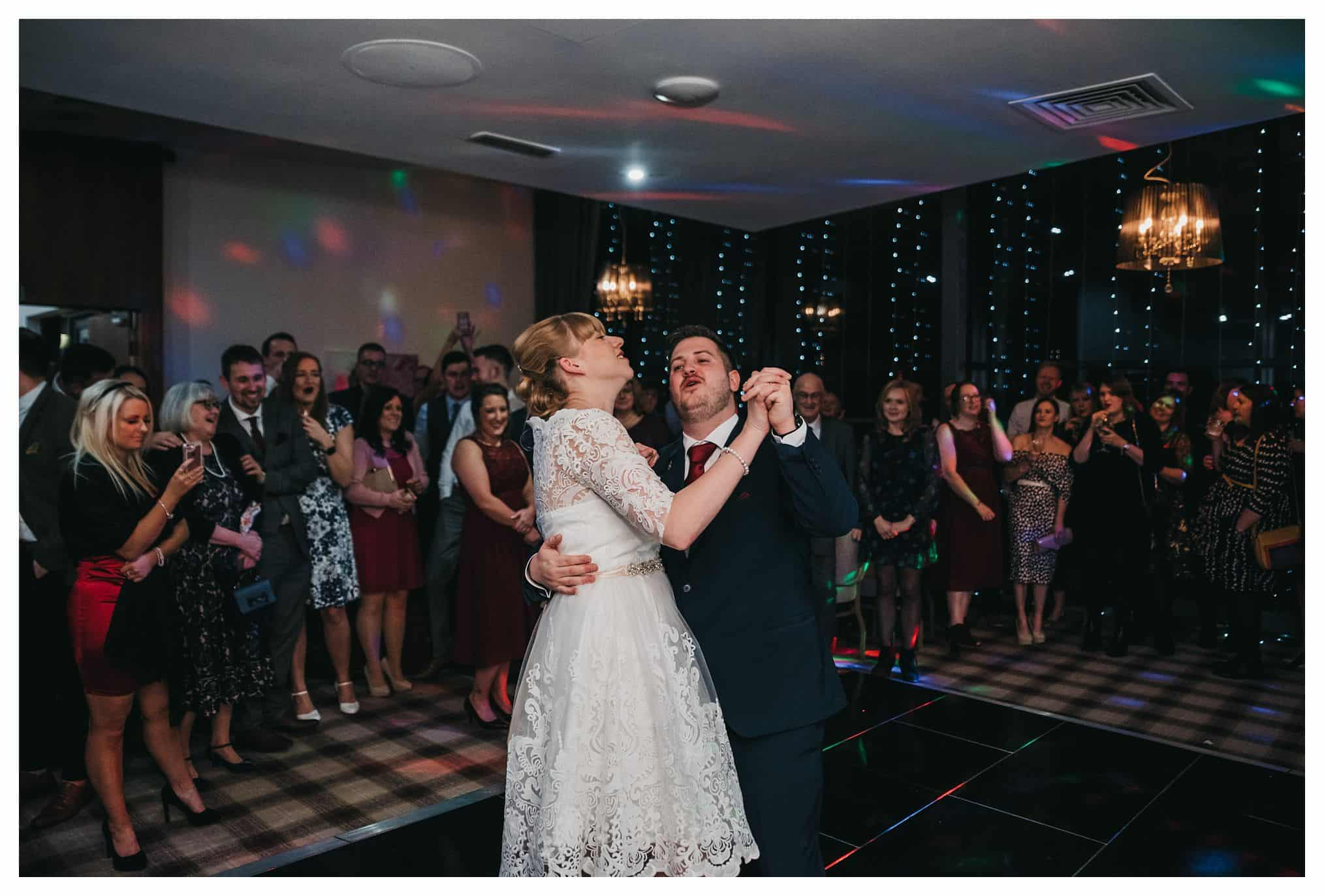 first dance - bride and groom