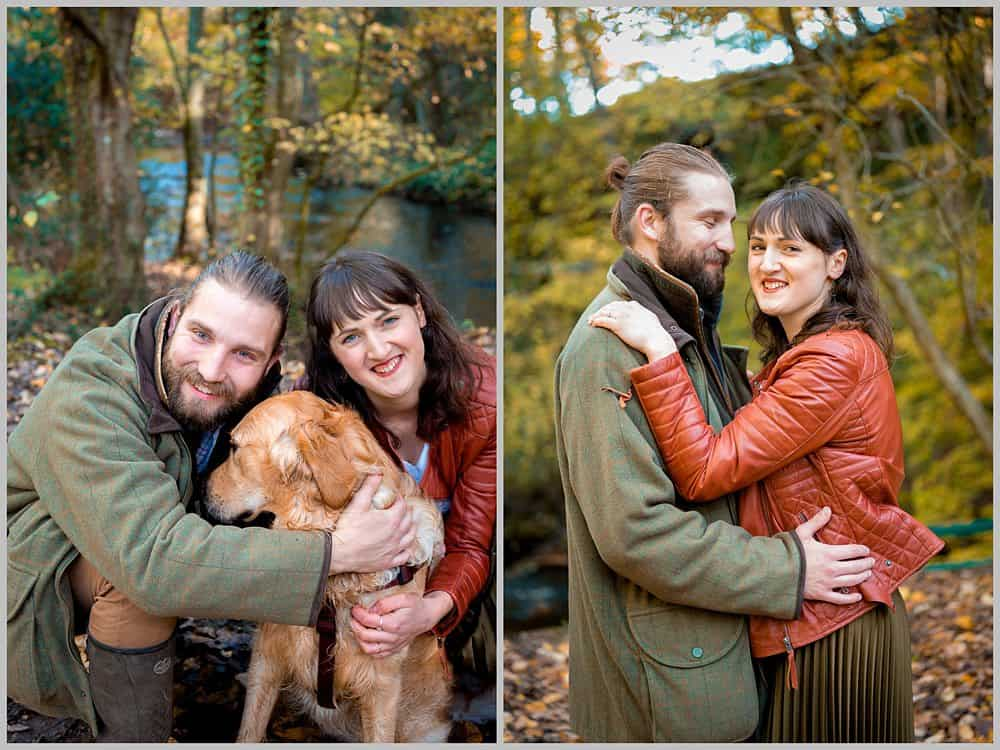 this images is a portait of the couple at  Rivelin Valley sheffield
