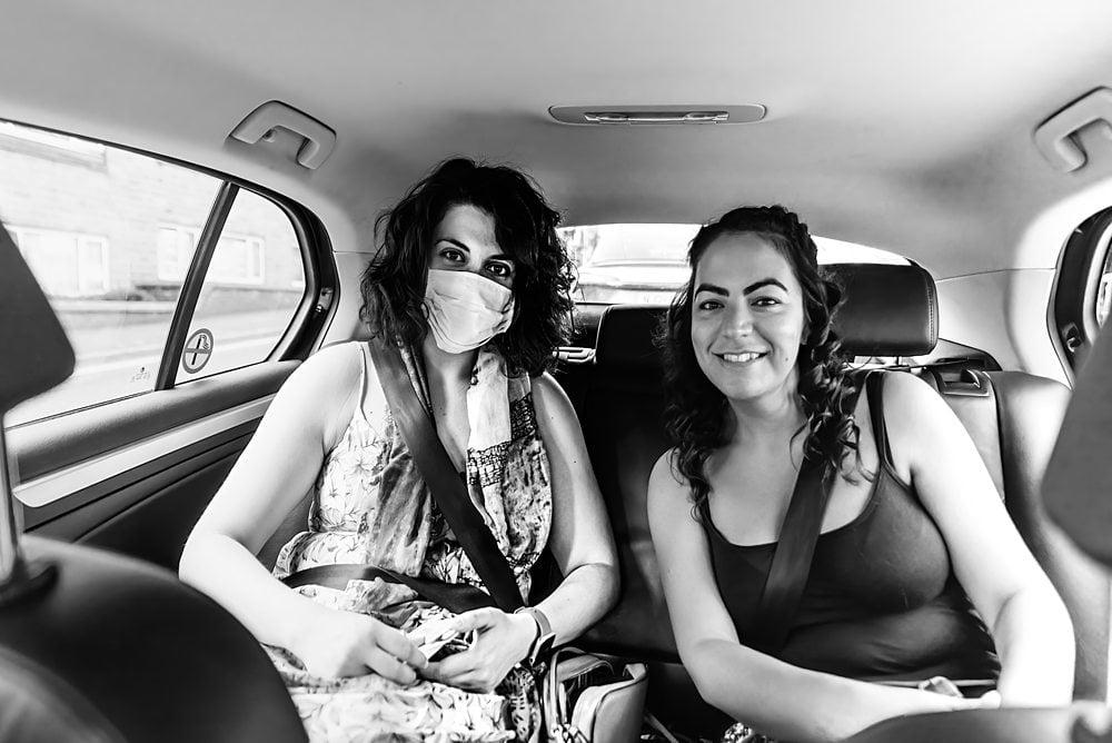 bride in Harrogate taxi