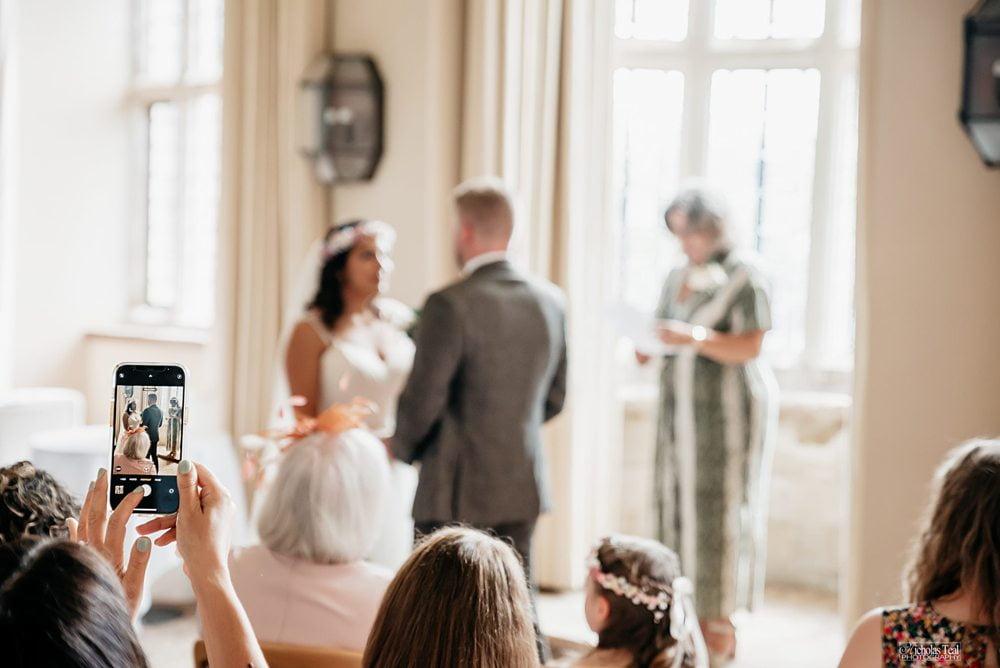 wedding service inside Fountains Hall